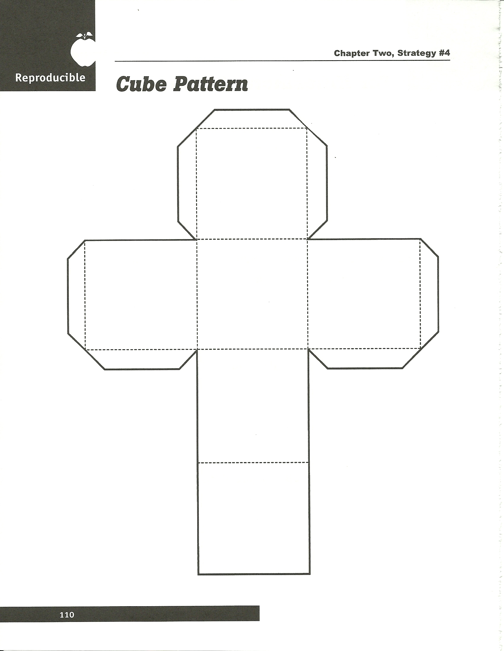Cube on blank ruler worksheet